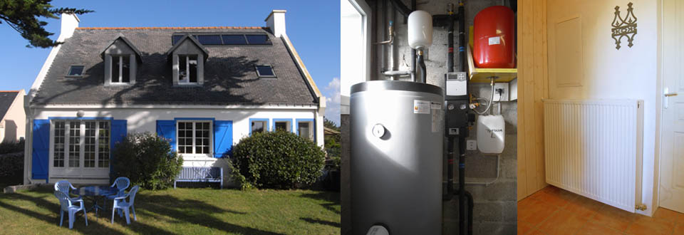Installation d'un chauffe eau solaire à Belle Ile en Mer.