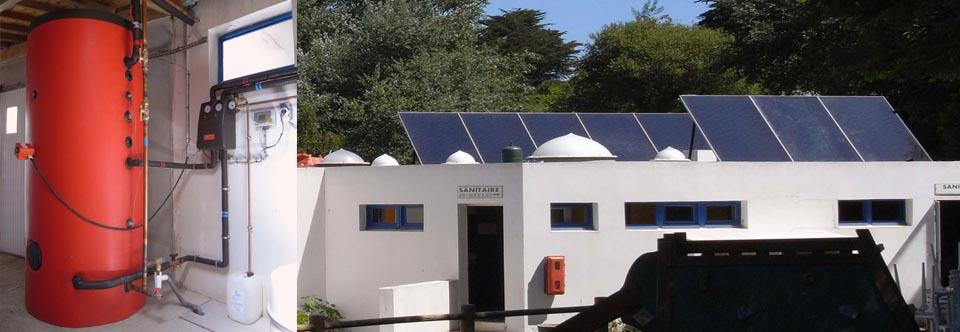 Installation d'un chauffe-eau solaire à Belle-Ile dans le Morbihan