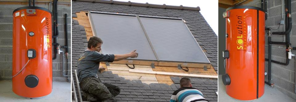 Installation d'un chauffe-eau solaire à Plouaret dans les Côtes d'Armor