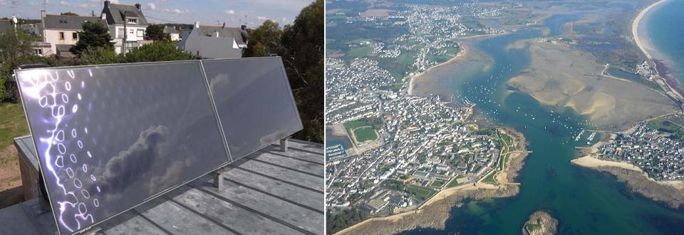 Installation d'un chauffe-eau solaire dans le sud Bretagne à Riantec