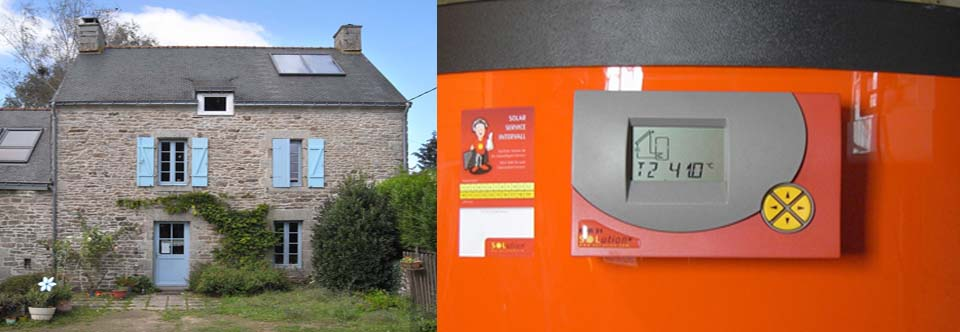 Installation d'un chauffe-eau solaire à Elven dans le Morbihan