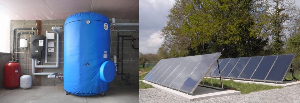 55 m2 de capteurs et un ballon solaire de 3000 litres!