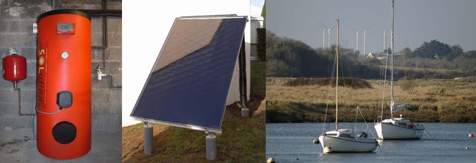 Installation d'un chauffe eau solaire à Muzillac