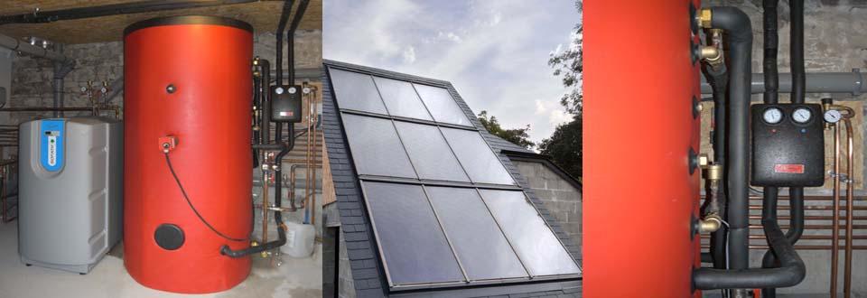 Installation d'un chauffe eau solaire à Sainte Suzanne dans la Mayenne
