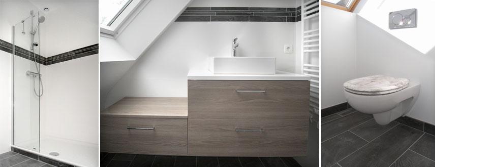Création d'une salle de bain à Saint Avé