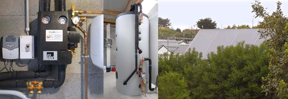 Installation d'un chauffe eau solaire à Quiberon dans le Morbihan