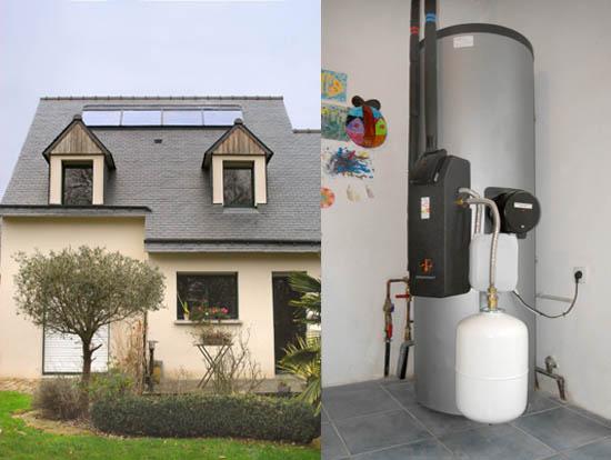 Energies Libres installe un chauffe eau solaire à Josselin dans le Morbihan